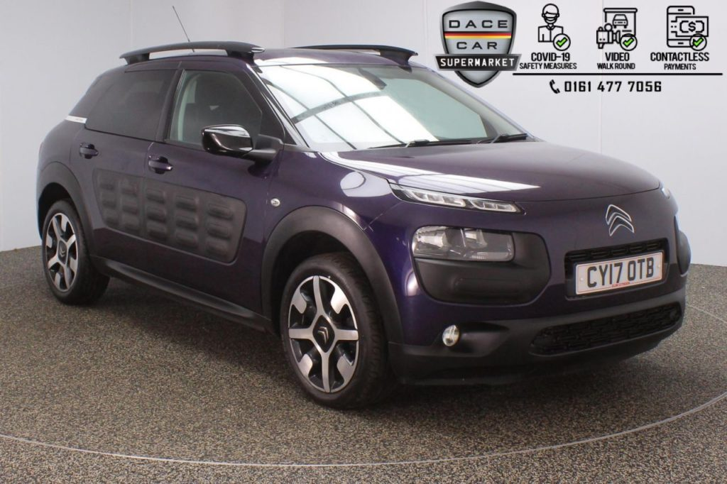 Used 2017 PURPLE CITROEN C4 CACTUS Hatchback 1.6 BLUEHDI FLAIR EDITION 5DR 1 OWNER 98 BHP (reg. 2017-08-17) for sale in Stockport