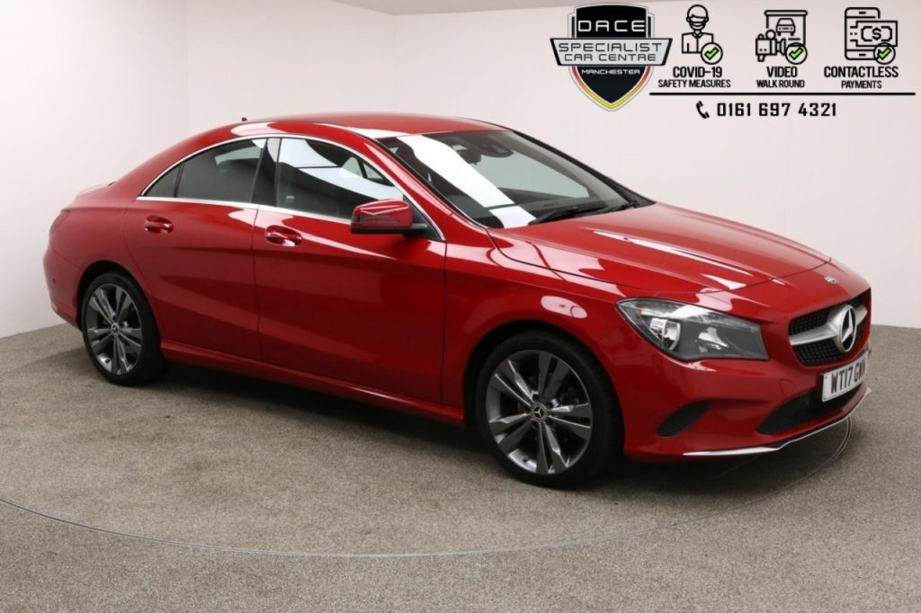 Used 2017 RED MERCEDES-BENZ CLA Coupe 2.1 CLA 200 D SPORT 4d AUTO 134 BHP (reg. 2017-08-09) for sale in Manchester