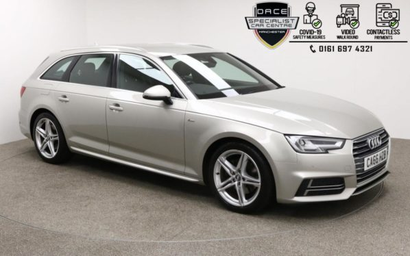 Used 2017 SILVER AUDI A4 AVANT Estate 2.0 TDI S LINE AVANT 5d 148 BHP (reg. 2017-01-20) for sale in Manchester
