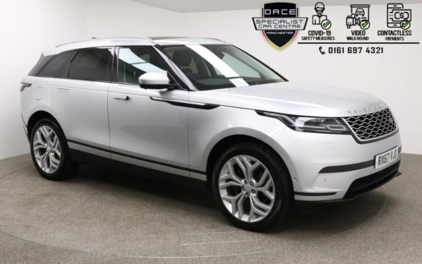 Used 2017 SILVER LAND ROVER RANGE ROVER VELAR 4x4 3.0 SE 5d AUTO 296 BHP (reg. 2017-11-15) for sale in Manchester