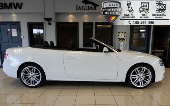 Used 2017 WHITE AUDI A5 Convertible 2.0 TDI S LINE 2d 187 BHP (reg. 2017-01-12) for sale in Hazel Grove