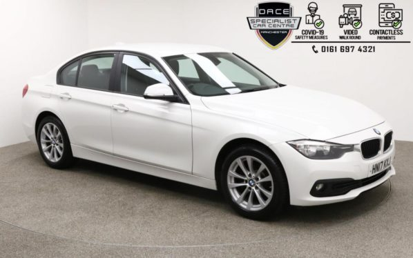 Used 2017 WHITE BMW 3 SERIES Saloon 2.0 318D SE 4DR 1 OWNER 148 BHP (reg. 2017-05-16) for sale in Manchester