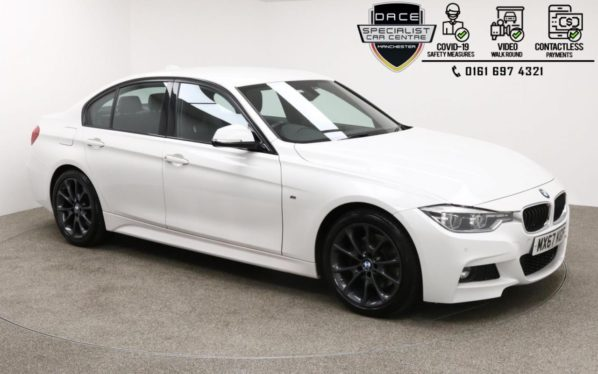 Used 2017 WHITE BMW 3 SERIES Saloon 3.0 330D M SPORT 4d AUTO 255 BHP (reg. 2017-09-21) for sale in Manchester