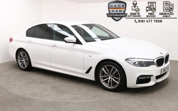 Used 2017 WHITE BMW 5 SERIES Saloon 2.0 520D M SPORT 4d AUTO 188 BHP (reg. 2017-07-14) for sale in Manchester