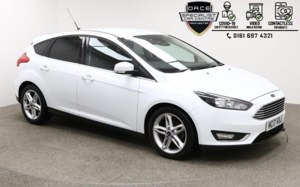 Used 2017 WHITE FORD FOCUS Hatchback 1.5 TITANIUM TDCI 5d 118 BHP (reg. 2017-07-29) for sale in Manchester