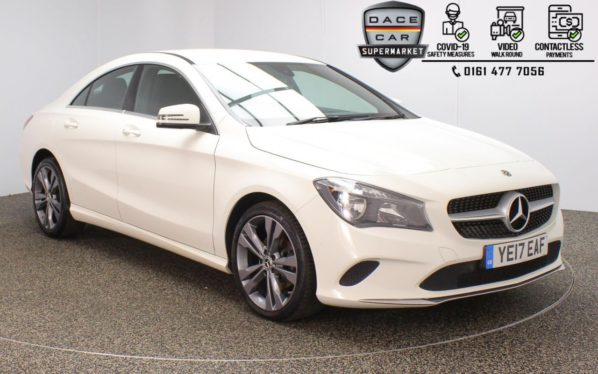 Used 2017 WHITE MERCEDES-BENZ CLA Coupe 2.1 CLA 200 D SPORT 4DR 1 OWNER 134 BHP (reg. 2017-05-31) for sale in Stockport