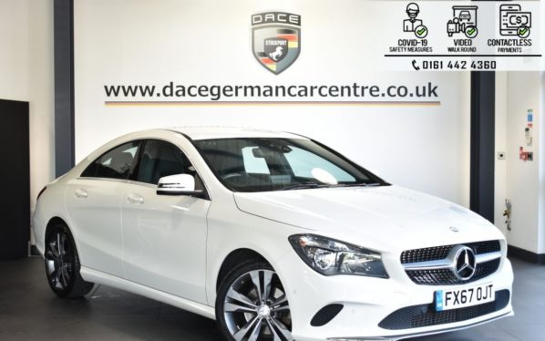 Used 2017 WHITE MERCEDES-BENZ CLA Coupe 2.1 CLA 200 D SPORT 4DR 134 BHP (reg. 2017-09-08) for sale in Bolton