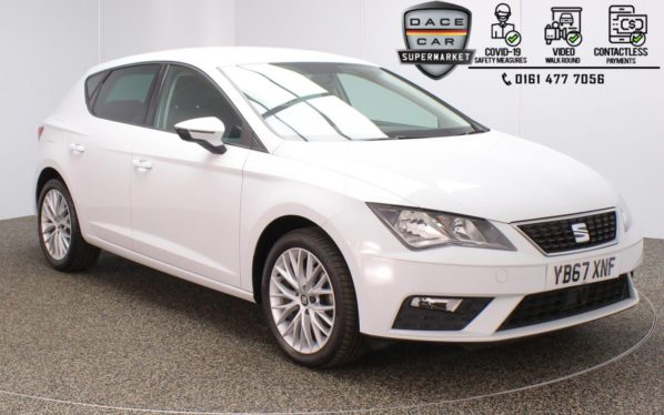 Used 2017 WHITE SEAT LEON Hatchback 1.6 TDI SE DYNAMIC TECHNOLOGY 5DR 114 BHP (reg. 2017-11-24) for sale in Stockport