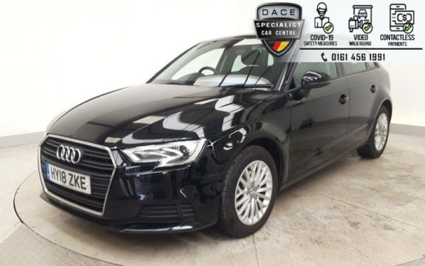 Used 2018 BLACK AUDI A3 Hatchback 1.6 TDI SE TECHNIK 5d AUTO 114 BHP (reg. 2018-03-29) for sale in Hazel Grove