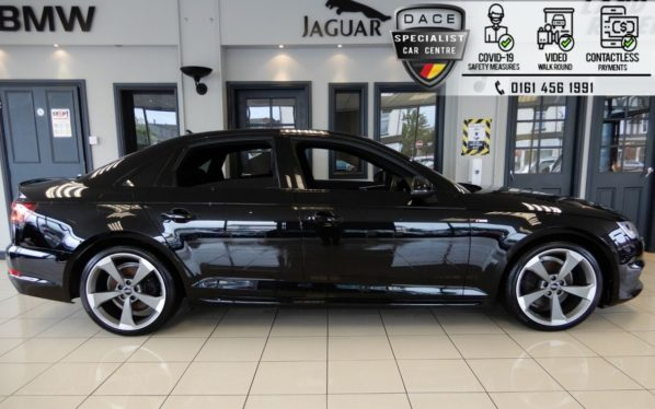 Used 2018 BLACK AUDI A4 Saloon 1.4 TFSI BLACK EDITION 4d 148 BHP (reg. 2018-03-31) for sale in Hazel Grove