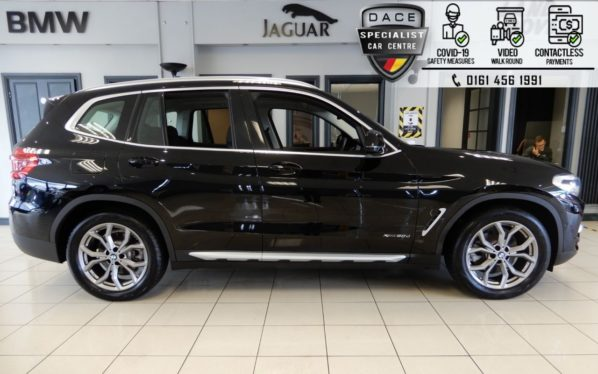 Used 2018 BLACK BMW X3 Estate 2.0 XDRIVE20D XLINE 5d AUTO 188 BHP (reg. 2018-04-13) for sale in Hazel Grove
