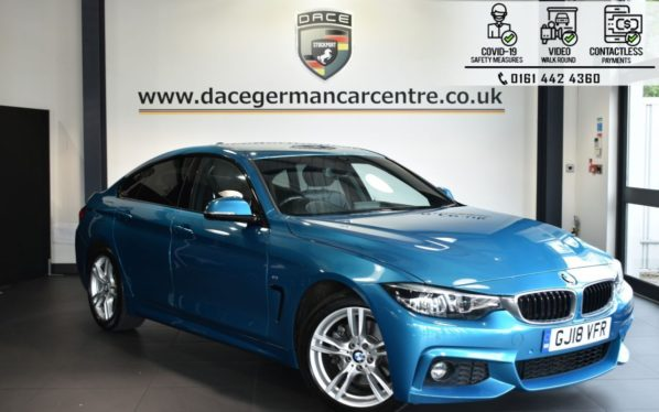 Used 2018 BLUE BMW 4 SERIES GRAN COUPE Coupe 2.0 430I M SPORT 4DR AUTO 248 BHP (reg. 2018-04-16) for sale in Bolton