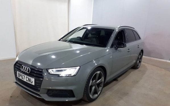 Used 2018 GREY AUDI A4 AVANT Estate 1.4 AVANT TFSI BLACK EDITION 5d 148 BHP (reg. 2018-01-31) for sale in Manchester