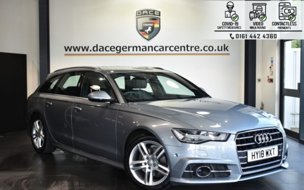 Used 2018 GREY AUDI A6 AVANT Estate 2.0 TDI ULTRA S LINE 5DR AUTO 188 BHP (reg. 2018-04-13) for sale in Bolton