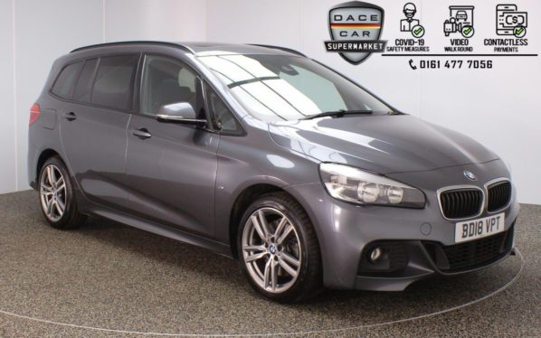 Used 2018 GREY BMW 2 Series GRAN TOURER MPV 2.0 220D M SPORT GRAN TOURER 5DR 1 OWNER AUTO 188 BHP (reg. 2018-05-10) for sale in Stockport
