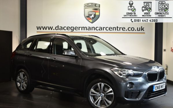Used 2018 GREY BMW X1 Estate 2.0 XDRIVE20D SPORT 5DR AUTO 188 BHP (reg. 2018-06-26) for sale in Bolton