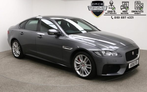 Used 2018 GREY JAGUAR XF Saloon 3.0 D V6 S 4d AUTO 296 BHP (reg. 2018-03-07) for sale in Manchester