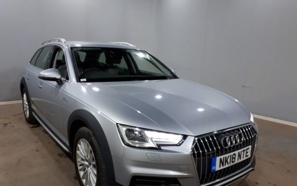 Used 2018 SILVER AUDI A4 ALLROAD Estate 2.0 ALLROAD TDI QUATTRO 5d AUTO 188 BHP (reg. 2018-03-27) for sale in Manchester