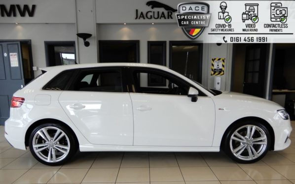 Used 2018 WHITE AUDI A3 Hatchback 1.0 SPORTBACK 30 TFSI S LINE 5d 114 BHP (reg. 2018-12-31) for sale in Hazel Grove