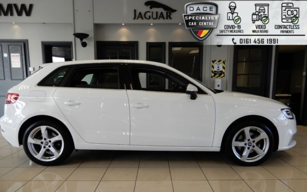 Used 2018 WHITE AUDI A3 Hatchback 2.0 TDI SPORT 5d AUTO 148 BHP (reg. 2018-05-03) for sale in Hazel Grove