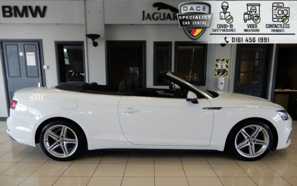 Used 2018 WHITE AUDI A5 Convertible 2.0 TFSI S LINE 2d 188 BHP (reg. 2018-05-11) for sale in Hazel Grove