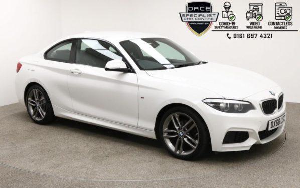 Used 2018 WHITE BMW 2 SERIES Coupe 1.5 218I M SPORT 2d 134 BHP (reg. 2018-10-31) for sale in Manchester