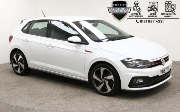 Used 2018 WHITE VOLKSWAGEN POLO Hatchback 2.0 GTI TSI DSG 5d AUTO 198 BHP (reg. 2018-07-14) for sale in Manchester