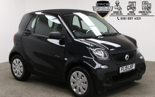 Used 2019 BLACK SMART FORTWO Coupe 1.0 PURE 2d 71 BHP (reg. 2019-03-01) for sale in Manchester