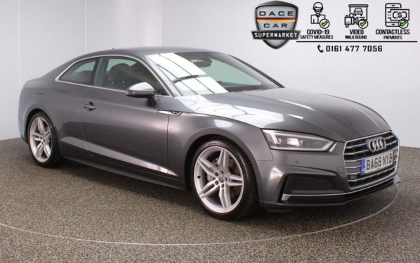 Used 2019 GREY AUDI A5 Coupe 2.0 TDI S LINE 2DR 1 OWNER AUTO 188 BHP (reg. 2019-01-28) for sale in Stockport