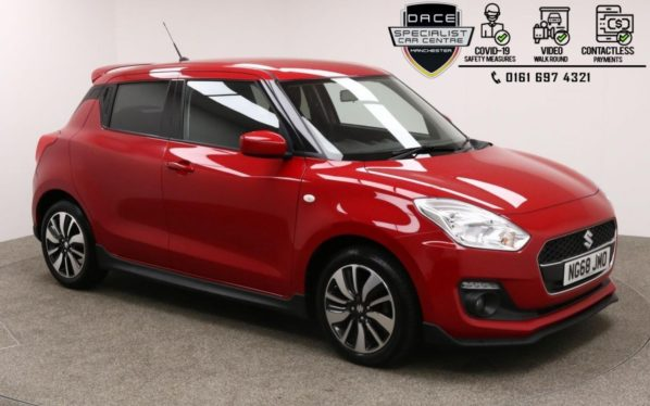 Used 2019 RED SUZUKI SWIFT Hatchback 1.2 ATTITUDE DUALJET 5d 89 BHP (reg. 2019-01-21) for sale in Manchester