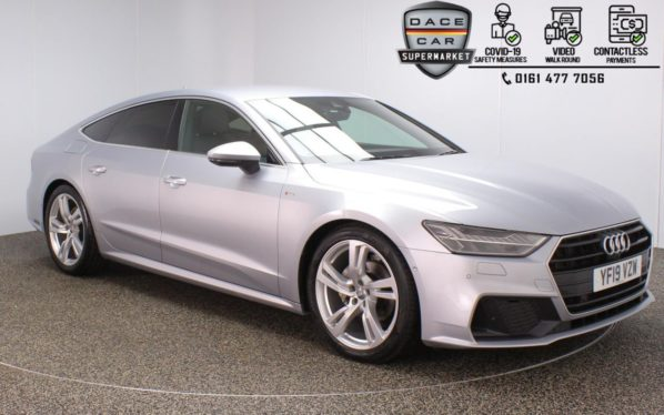 Used 2019 SILVER AUDI A7 Hatchback 2.0 SPORTBACK TDI S LINE 5DR 1 OWNER AUTO 202 BHP (reg. 2019-04-26) for sale in Stockport