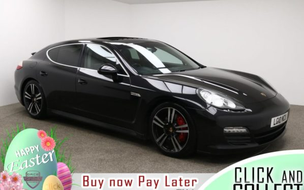 Used 2010 BLACK PORSCHE PANAMERA Hatchback 4.8 S PDK 5d AUTO 400 BHP (reg. 2010-03-27) for sale in Manchester