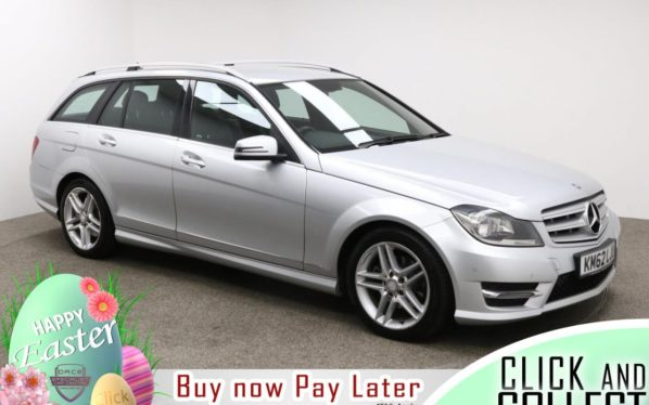 Used 2012 SILVER MERCEDES-BENZ C-CLASS Estate 2.1 C220 CDI BLUEEFFICIENCY AMG SPORT 5d AUTO 168 BHP (reg. 2012-11-22) for sale in Manchester
