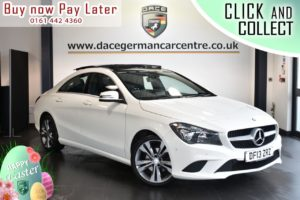 Used 2013 WHITE MERCEDES-BENZ CLA Coupe 1.6 CLA180 SPORT 4DR 122 BHP (reg. 2013-08-06) for sale in Bolton