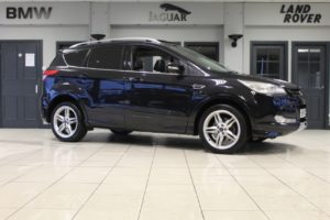 Used 2014 BLACK FORD KUGA Hatchback 1.6 TITANIUM X 5d 177 BHP (reg. 2014-03-01) for sale in Hazel Grove
