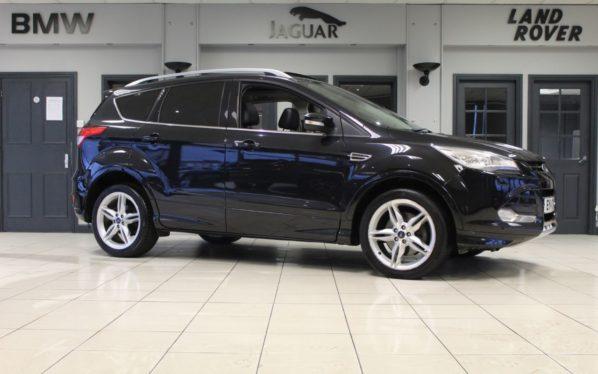 Used 2014 BLACK FORD KUGA Hatchback 1.6 TITANIUM X 5d 177 BHP (reg. 2014-03-01) for sale in Hazel Grove