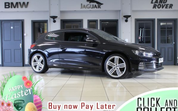 Used 2014 BLACK VOLKSWAGEN SCIROCCO Coupe 2.0 R LINE TDI BLUEMOTION TECHNOLOGY DSG 2d 148 BHP (reg. 2014-11-25) for sale in Hazel Grove