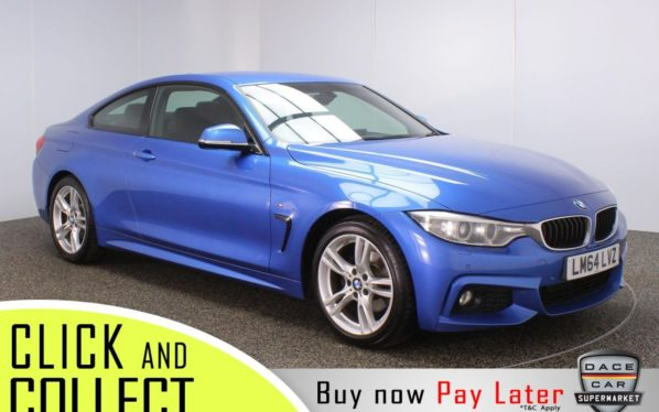 Used 2014 BLUE BMW 4 SERIES Coupe 2.0 420D M SPORT 2DR AUTO 181 BHP (reg. 2014-11-04) for sale in Stockport
