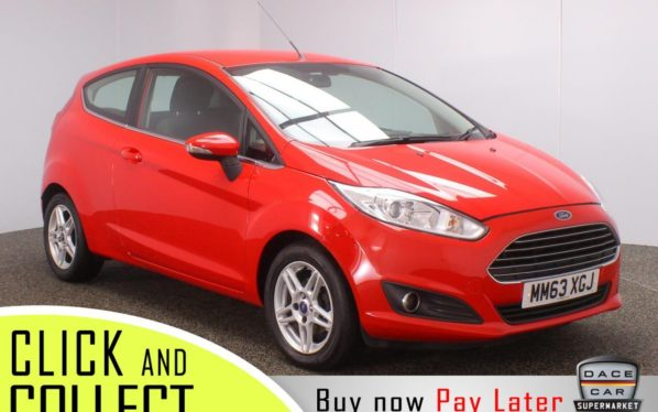 Used 2014 RED FORD FIESTA Hatchback 1.0 ZETEC 3DR 99 BHP + FULL SERVICE HISTORY (reg. 2014-01-27) for sale in Stockport