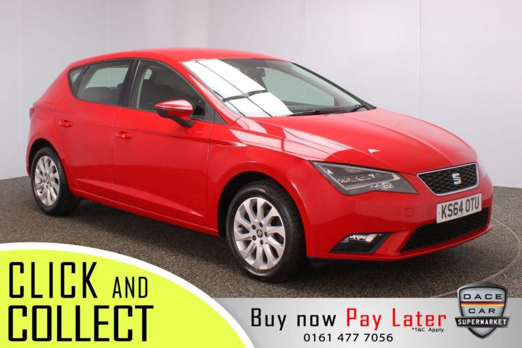 Used 2014 RED SEAT LEON Hatchback 1.6 TDI SE TECHNOLOGY 5DR 105 BHP (reg. 2014-12-22) for sale in Stockport