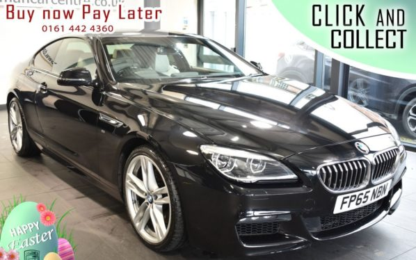 Used 2015 BLACK BMW 6 SERIES Coupe 3.0 640I M SPORT 2DR AUTO 316 BHP (reg. 2015-11-20) for sale in Bolton