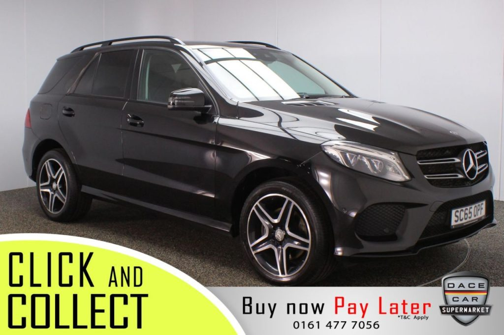 Used 2015 BLACK MERCEDES-BENZ GLE-CLASS 4x4 2.1 GLE 250 D 4MATIC AMG LINE 5DR AUTO 201 BHP (reg. 2015-12-17) for sale in Stockport