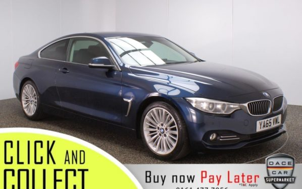 Used 2015 BLUE BMW 4 SERIES Coupe 2.0 418D LUXURY 2DR AUTO 148 BHP (reg. 2015-12-30) for sale in Stockport