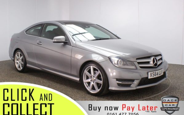 Used 2015 SILVER MERCEDES-BENZ C-CLASS Coupe 2.1 C250 CDI AMG SPORT EDITION PREMIUM PLUS 2DR AUTO (reg. 2015-01-02) for sale in Stockport