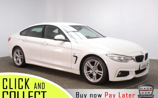 Used 2015 WHITE BMW 4 SERIES GRAN COUPE Coupe 2.0 420D M SPORT GRAN COUPE 4DR 1 OWNER 188 BHP FREE 1 YEAR WARRANTY (reg. 2015-12-03) for sale in Stockport