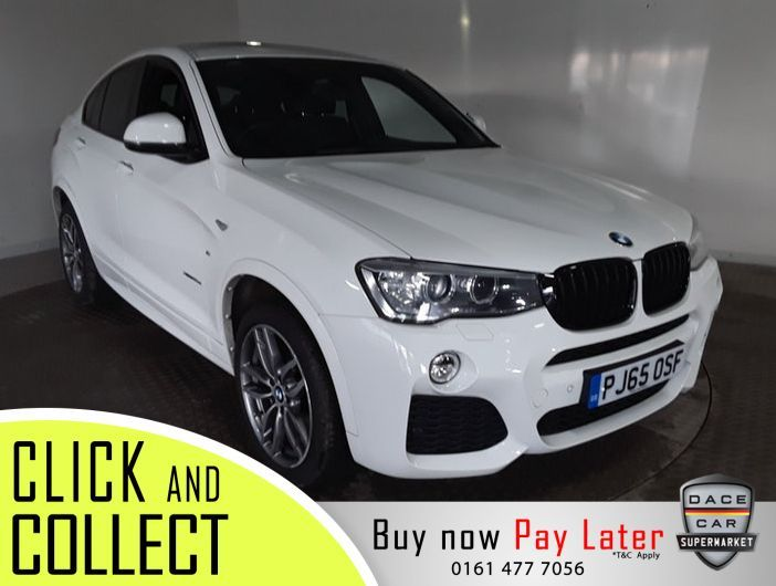 Used 2015 WHITE BMW X4 4x4 2.0 XDRIVE20D M SPORT 4DR AUTO 188 BHP (reg. 2015-11-09) for sale in Stockport