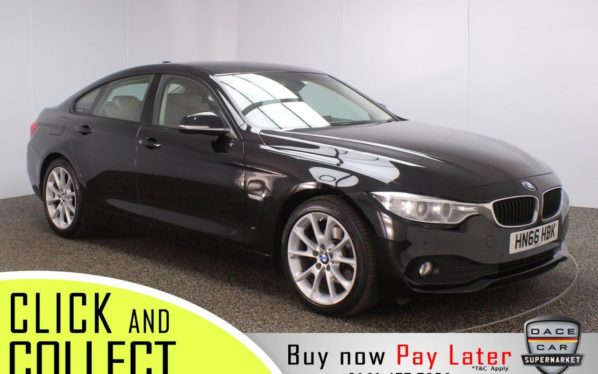 Used 2016 BLACK BMW 4 SERIES GRAN COUPE Coupe 2.0 420D SE GRAN COUPE 4DR AUTO 1 OWNER 188 BHP (reg. 2016-12-01) for sale in Stockport