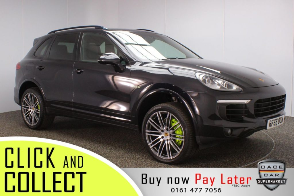 Used 2016 BLACK PORSCHE CAYENNE 4x4 3.0 S E-HYBRID PLATINUM EDITION TIPTRONIC S 5DR 1 OWNER AUTO 329 BHP (reg. 2016-12-17) for sale in Stockport