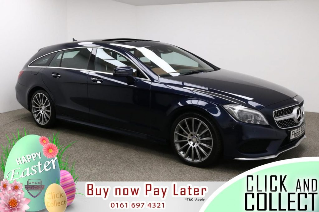 Used 2016 BLUE MERCEDES-BENZ CLS CLASS Estate 3.0 CLS350 D AMG LINE PREMIUM PLUS 5d AUTO 255 BHP (reg. 2016-11-25) for sale in Manchester