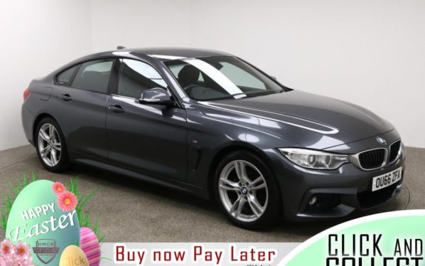 Used 2016 GREY BMW 4 SERIES GRAN COUPE Coupe 2.0 420D M SPORT GRAN COUPE 4d 188 BHP (reg. 2016-09-05) for sale in Manchester